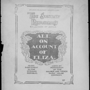 All on account of Eliza : romance from Billee Taylor