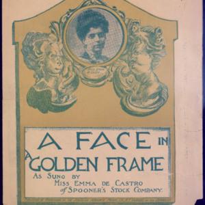 A face in a golden frame